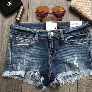 NIP Distressed Denim Shorts